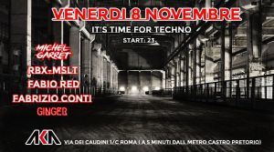 It's time for techno